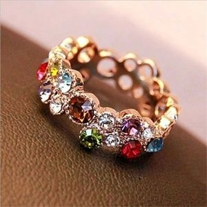 Multi Colored Crystal Ring